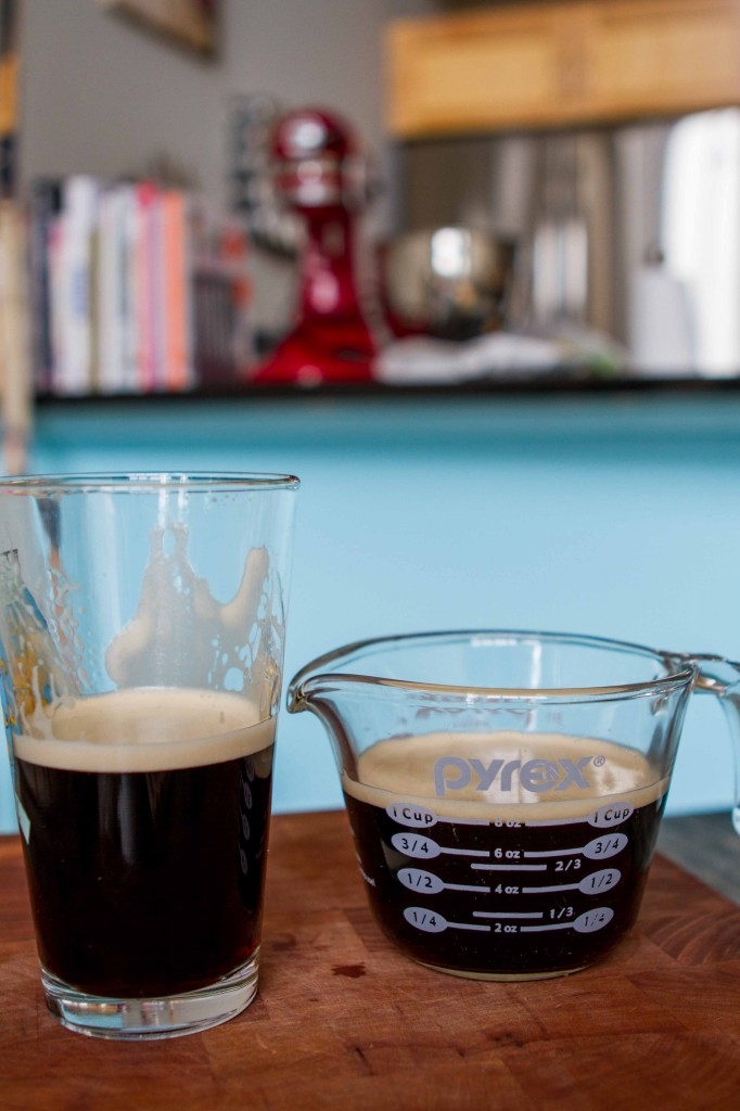 Guinness recipe dilemma.  You only need 1 cup and you are left with half a cup.  It's noon somewhere, right?  Cheers!