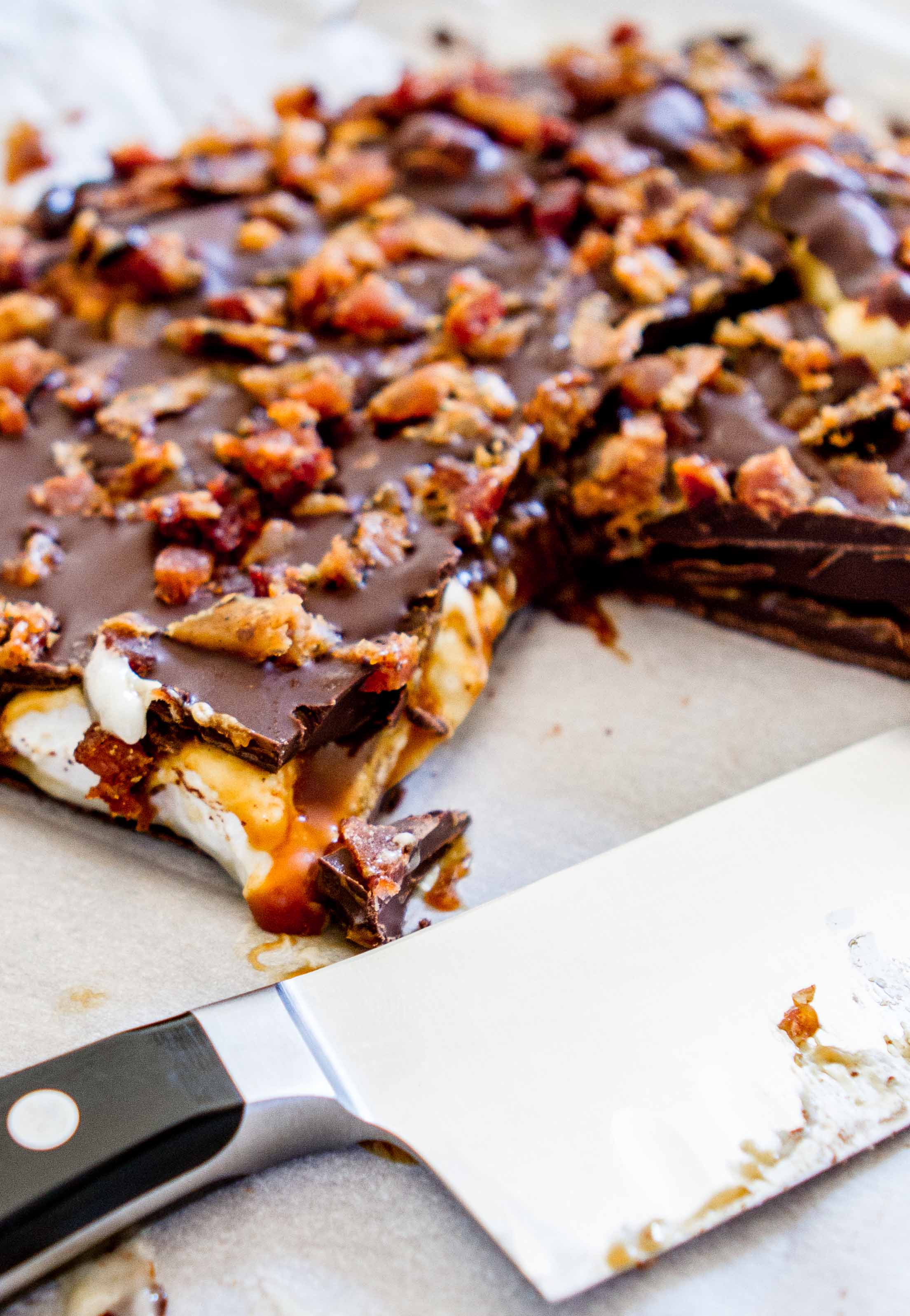 Chocolate Bacon Mallow Bark - m's belly