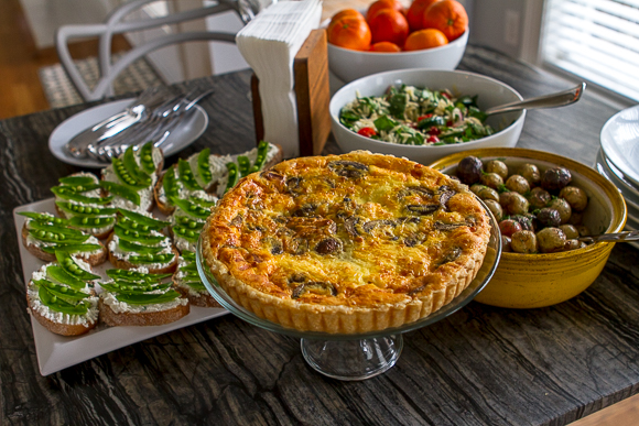quiche with other delicious treats
