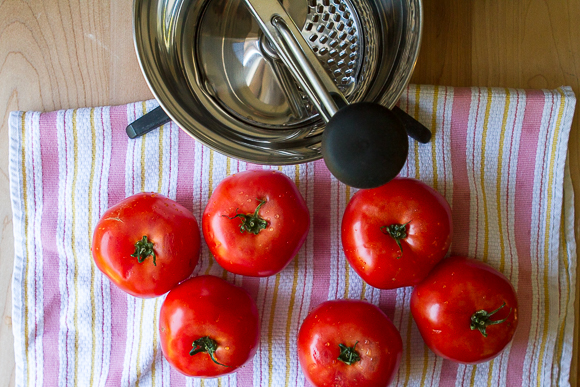 store bought tomatoes + the new food mill